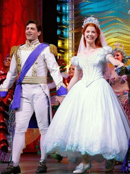 The Little Mermaid Broadway Opening Night Curtain Call Pics Ariel Wedding Dress Little Mermaid Costumes Little Mermaid Broadway