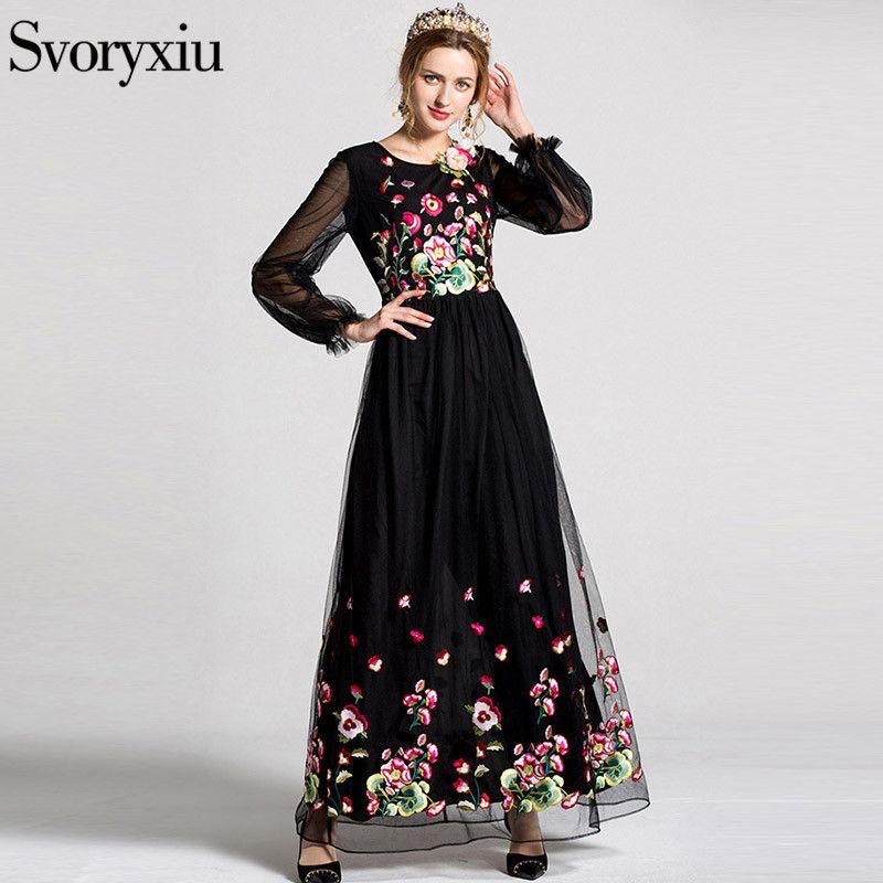d06a4703dc497 Click to Buy << Runway Designer New Spring Summer Maxi Dress Women's ...