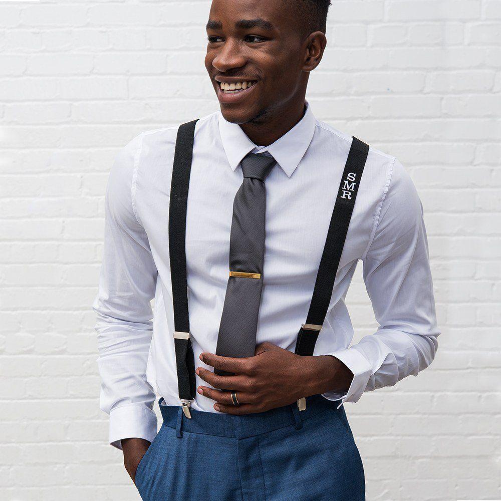 Suspenders mens wedding groom attire tuxedo Shop Gifts