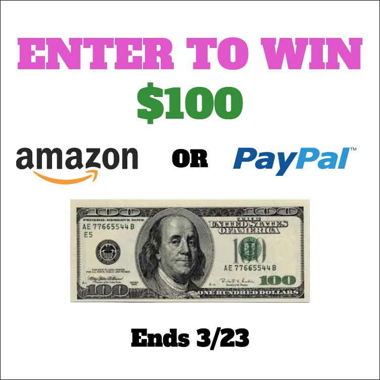 March 100 Giveaway Choose Paypal Or Amazon Gift Card Ends 3 23