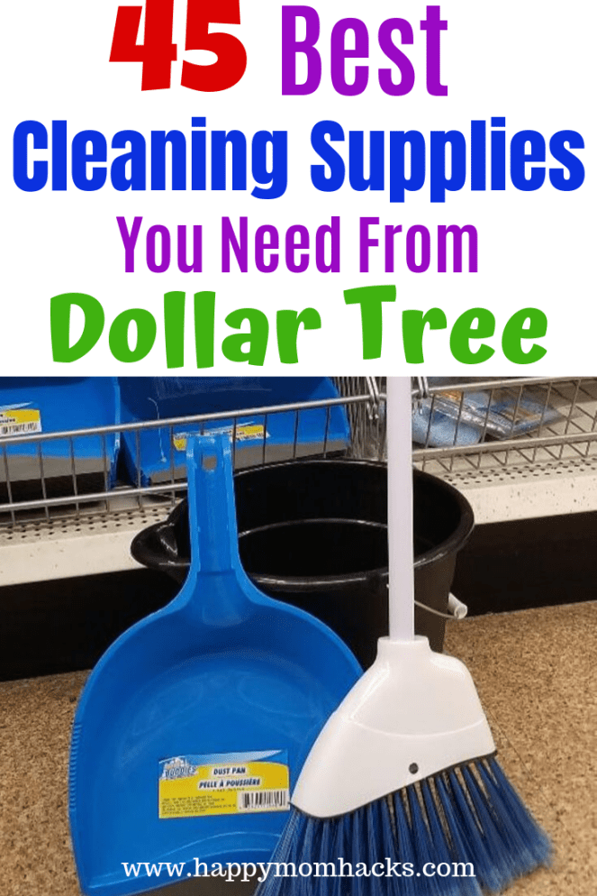 45 Best Cleaning Supplies At Dollar Tree You Need Homemade