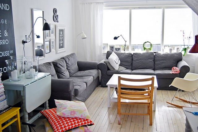 saln sofas grises