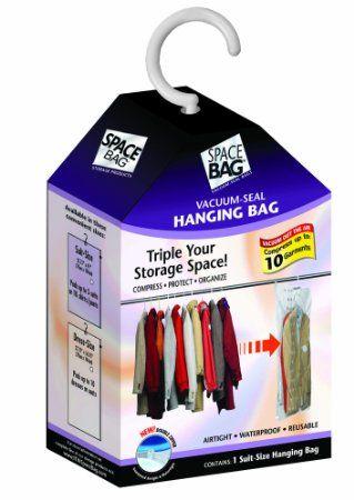 d80470cc4995 Amazon.com - Space Bag WBR-5700 Vacuum-Sealing Hanging-Suit Storage Bag  ( 19 for one 28