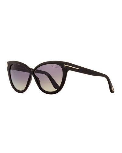 e76f8e1de889 TOM FORD Arabella Polarized Cat-Eye Sunglasses