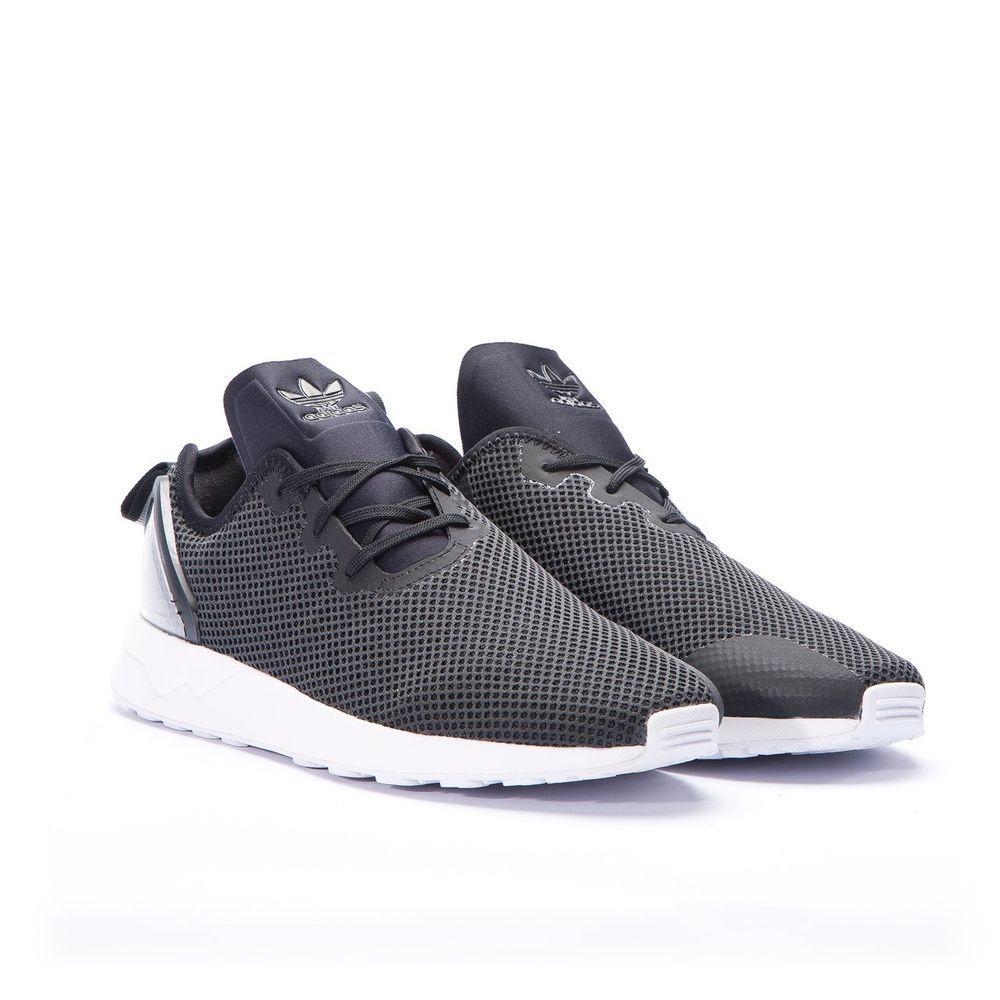 Adidas Originals ZX Flux ADV Asymmetrical Mens Running Black Trainers UK6.5  ->11