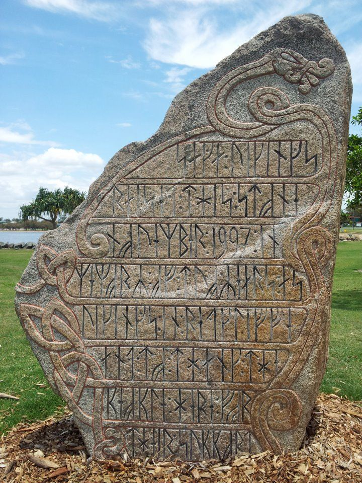 Runic stone in australia vikings pinterest