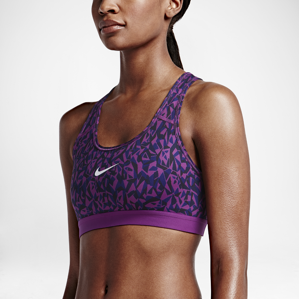 Nike Pro Classic Facet Women's Sports Bra Size Small (Purple) - Clearance  Sale