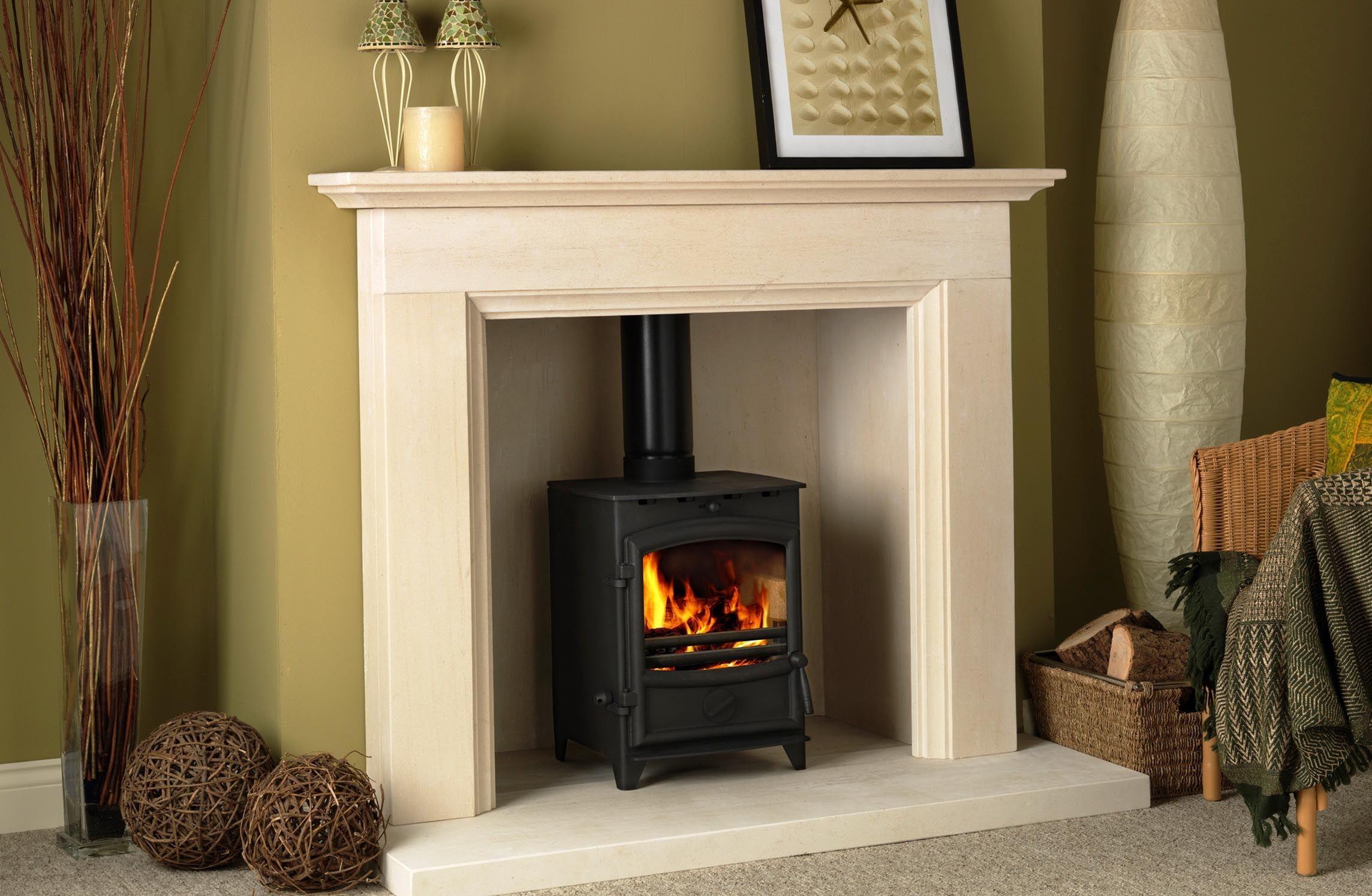Wood Burning Fireplace Surround Ideas