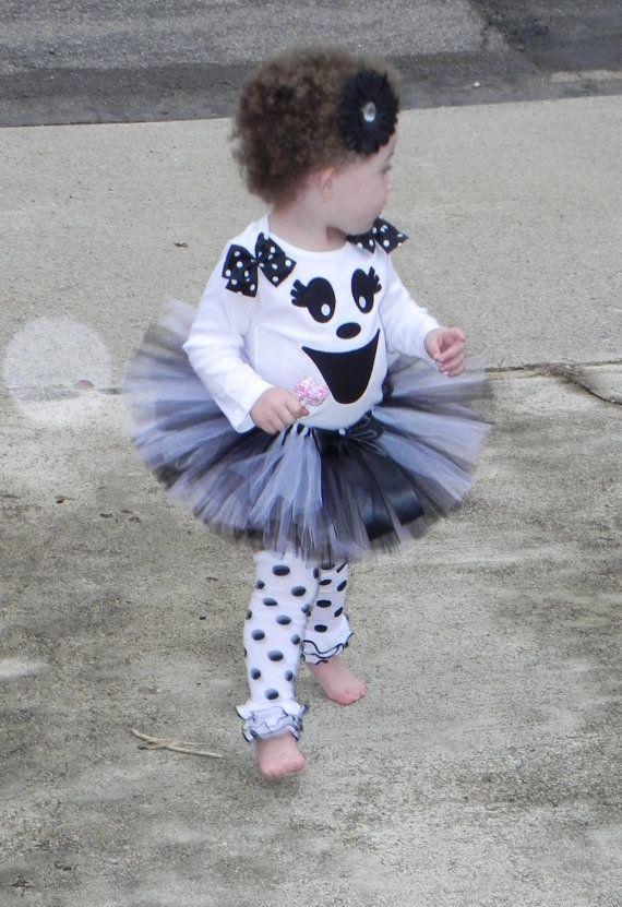 Too ADORABLE! Ghost Tutu Halloween Costume, $6295 tutu ideas - halloween tutu ideas