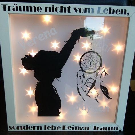 Geschenk Zum Geburtstag Ein Beleuchtet Rahmen Ribba Diy Handmade Box Frames Shadow Box