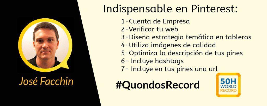 Los indispensables de pinterest @facchinjose #QuondosRecord vía @meryelvis