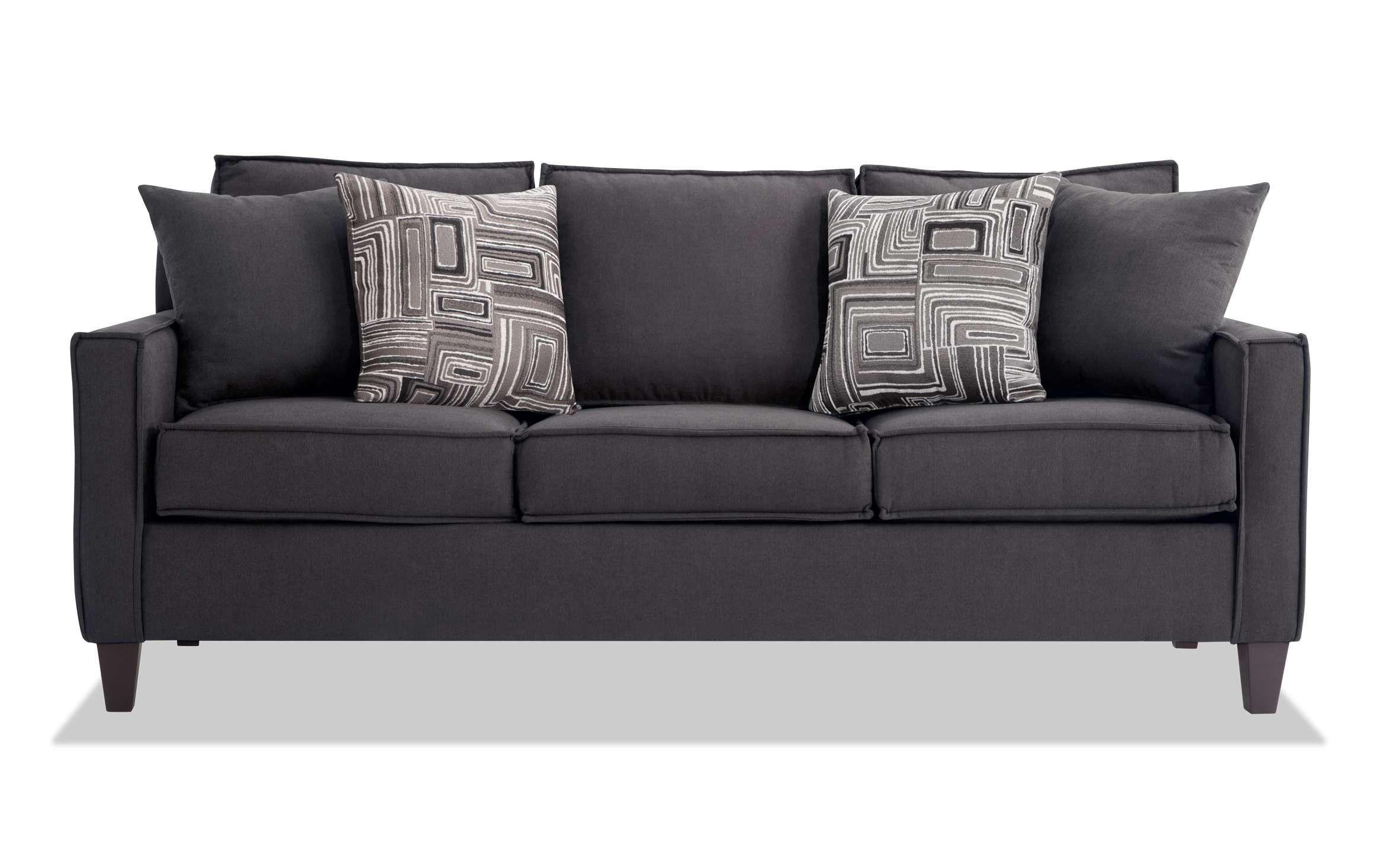 Jessie 80'' Gray BobOPedic Gel Queen Sleeper Sofa in