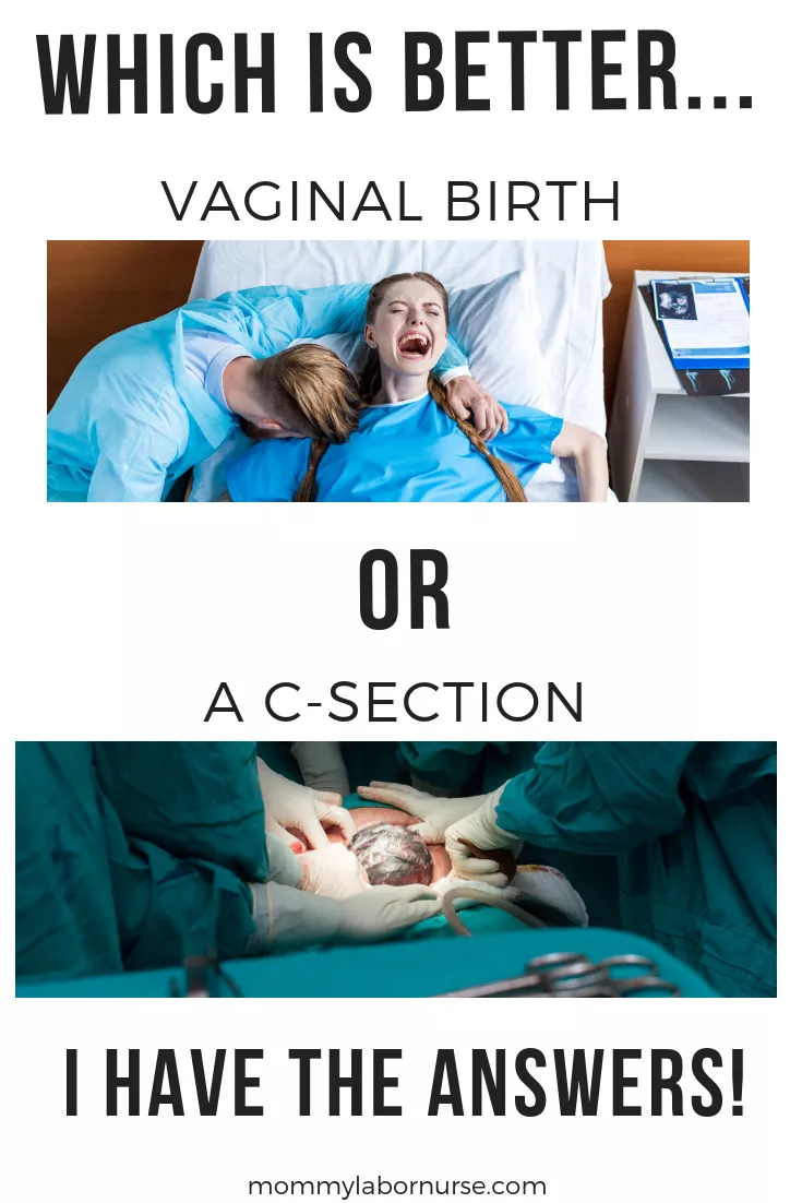 Vaginal birth vs cesarean sections