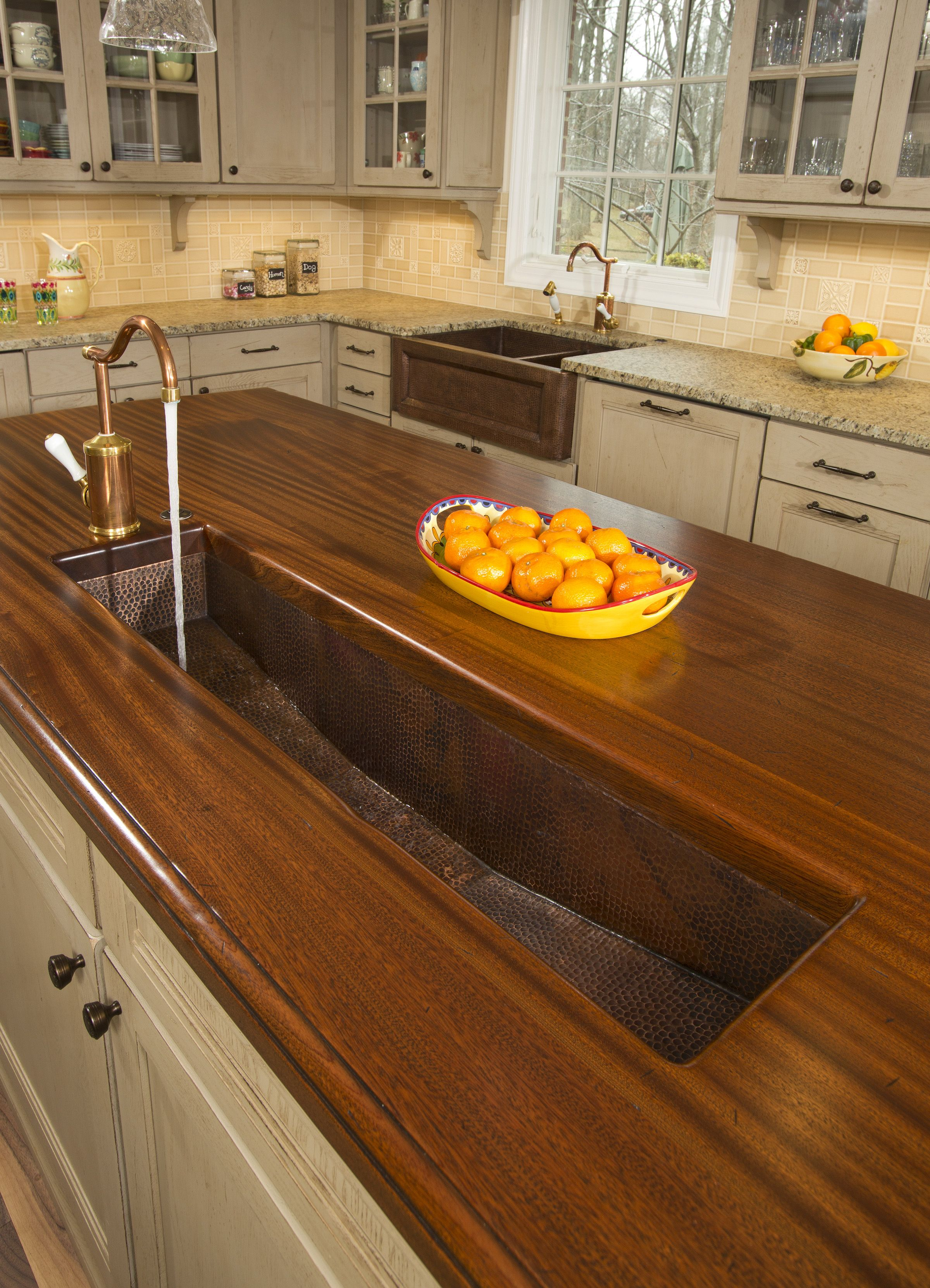 Trough Sink In Kitchen Island Perfect For Food Prep Mark