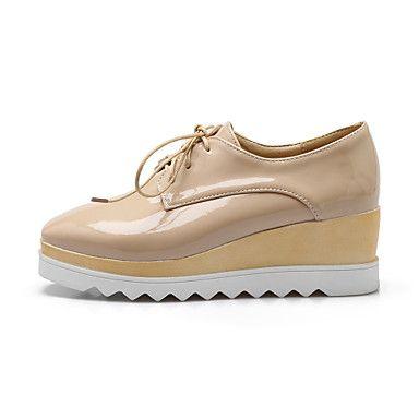 Zapatos blancos de otoño Tacón de cuña oficinas para mujer WplZiB