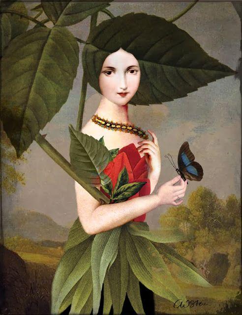 """The Rose Garden: """"Catrin Welz-Stein"""" Artist who works through Photoshop to make digital art."""