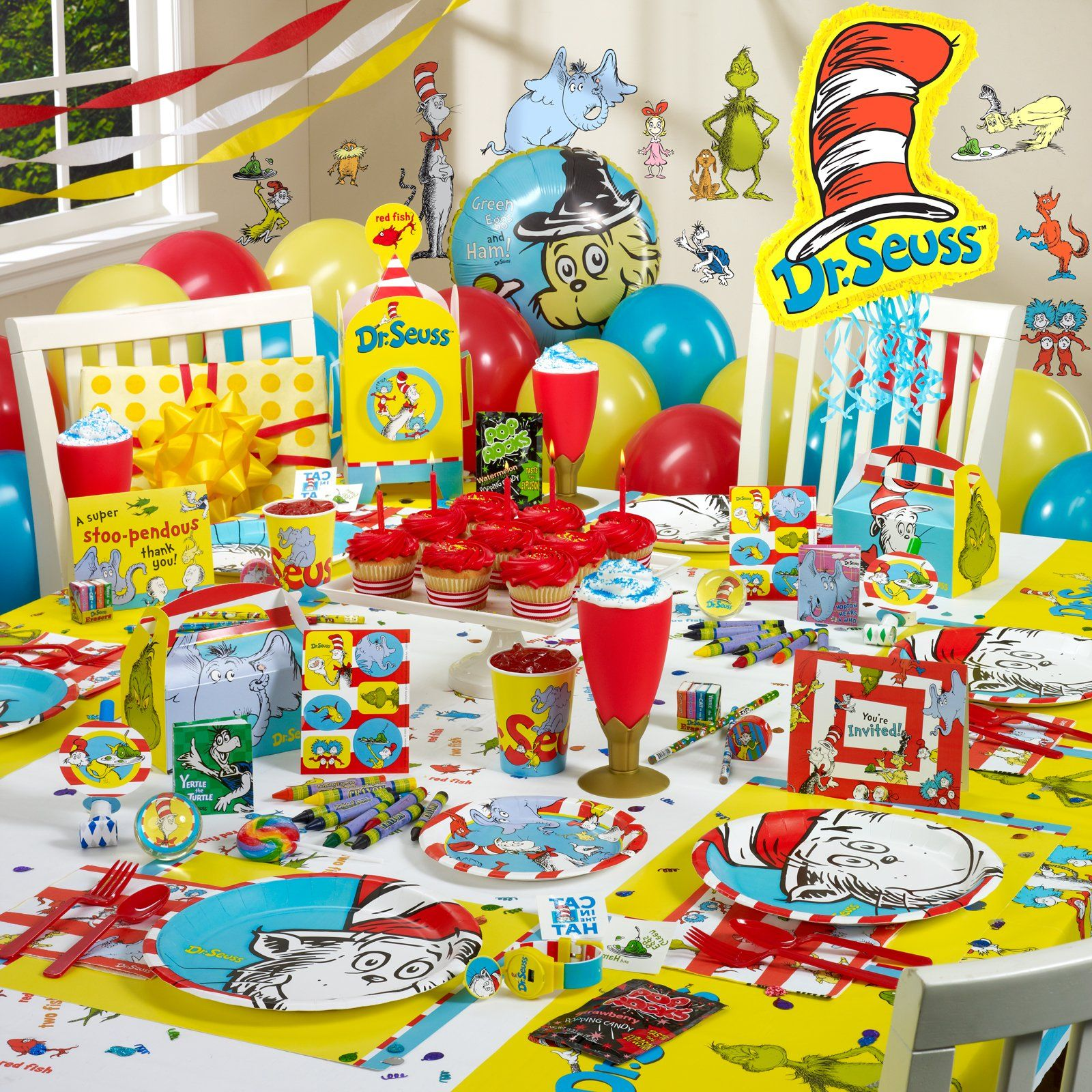 I Want This For Aidyn Dr Seuss Party Supplies Seuss Party Dr Seuss Decorations