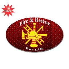 Fire and Rescue For Life Diamond Plate Sticker > Fire and Rescue For Life > The Art Studio by Mark Moore