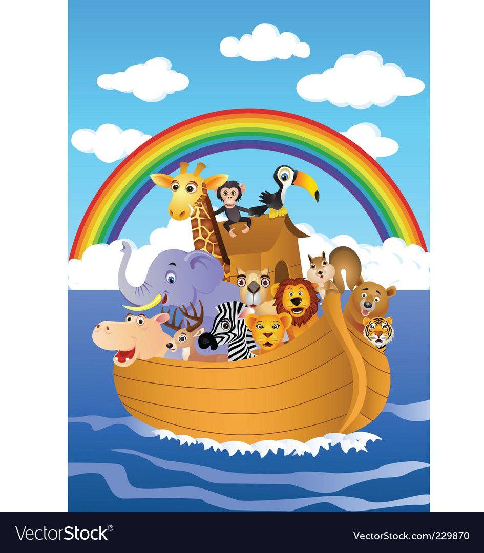 Noah's ark vector image on VectorStock Noahs ark, Noahs