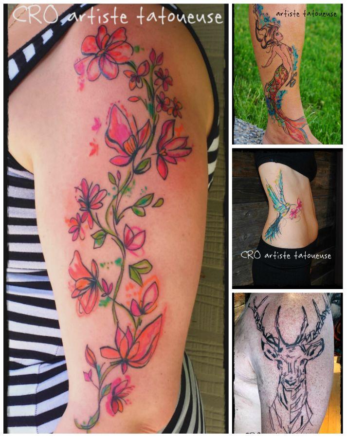 Cro Artiste Tatoueuse Prevost Quebec Tatouage Pied Tattoo