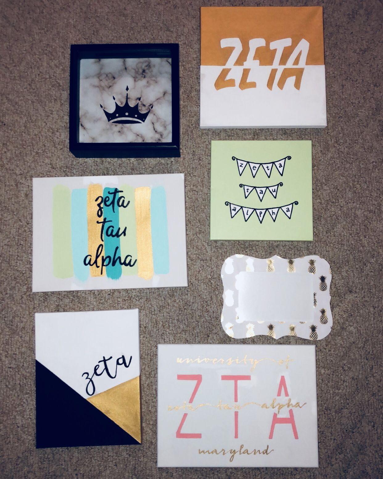 zeta canvas ideas, sorority, big little #biglittlecanvas