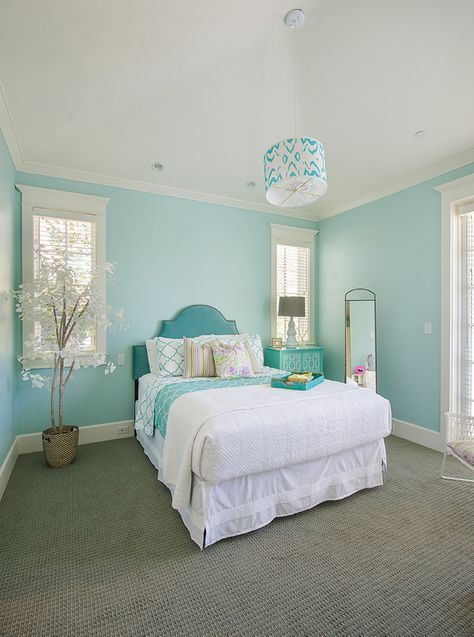 Lovely Turquoise Teen Bedroom Designs is part of Turquoise room, Bedroom turquoise, Living room turquoise, Bedroom, Girls bedroom paint, Master bedrooms decor - Teenage girls' bedroom decor should be various from a little girl's bedroom  Styles for teenage girls' bedrooms ought to show her maturing tastes and design with a younger yet more soph