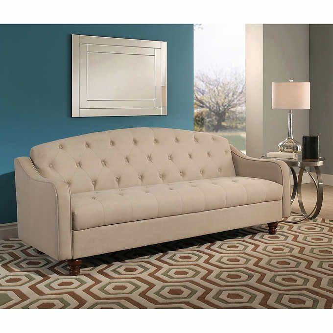 vera fabric sleeper sofa with storage ivory gildaire pinterest rh pinterest com