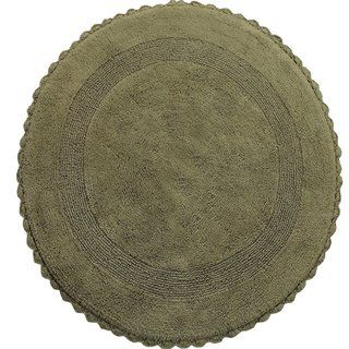 36 Inches Round Cotton Bath Rug Reversible Hand Knitted Crochet