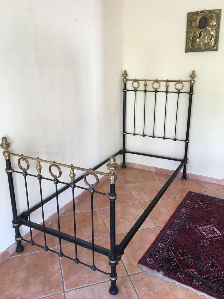Altes Boulle Bett 1900 Gusseisen ca 90x190 cm Einrichtung Dekoration ...