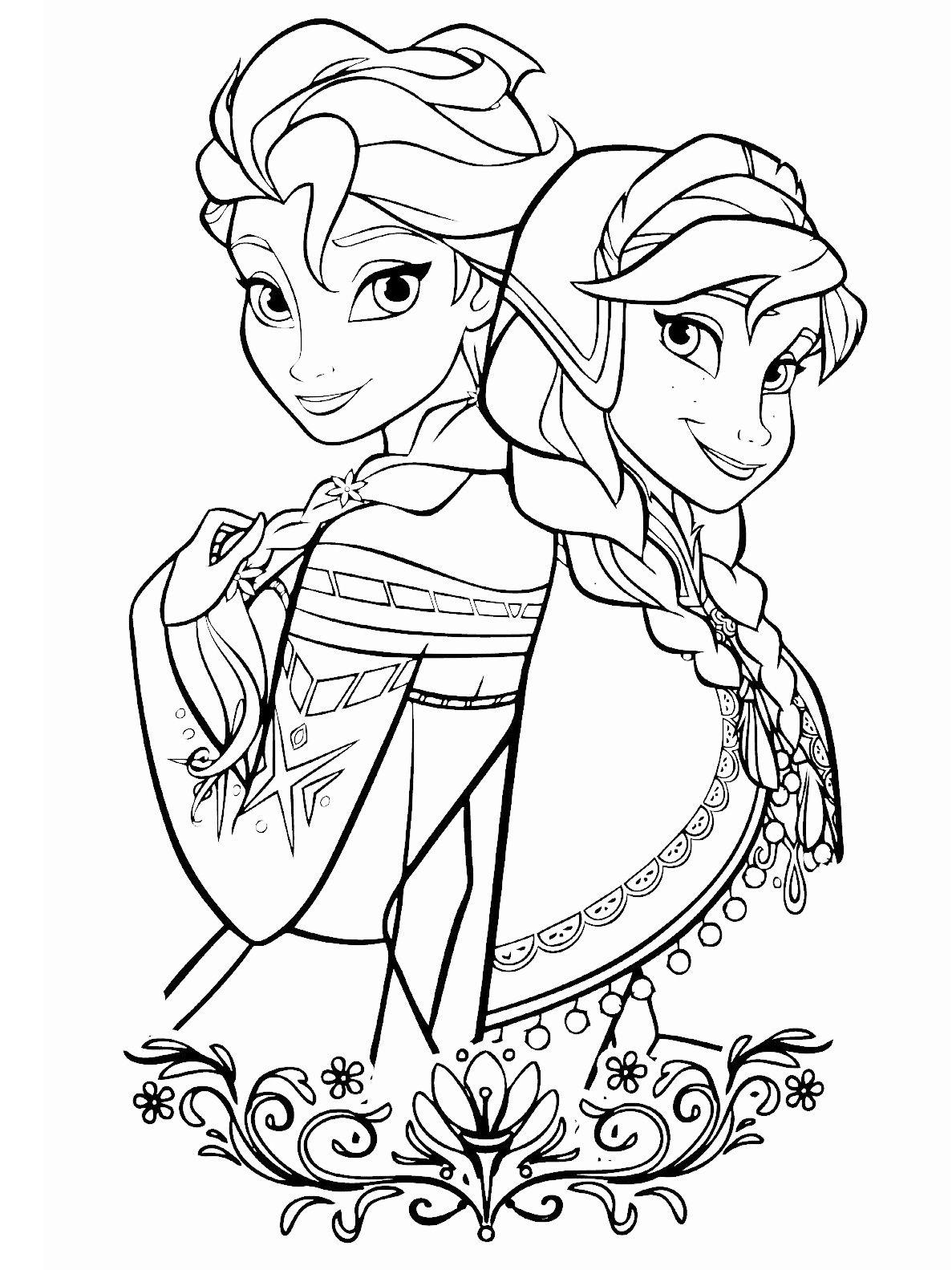 Anna A Elsa Omalovanka Omalovanky Adult Coloring Pages