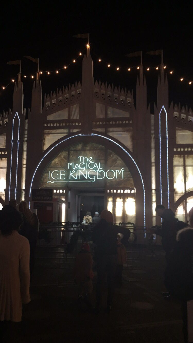 the magic ice kingdom at winter wonderland hyde park london