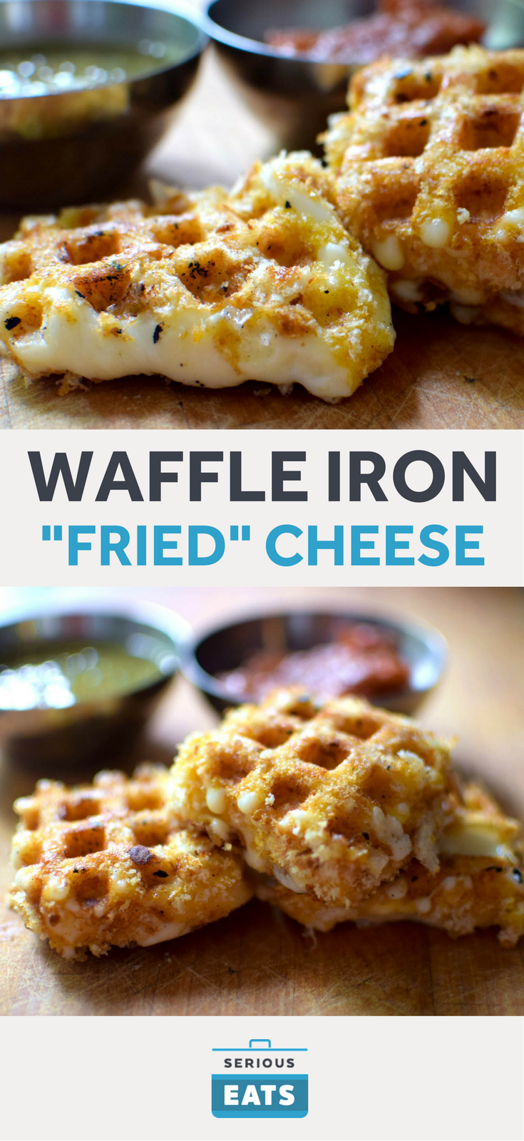 "Photo of Waffle Iron ""Fried"" Cheese (Queso Frito)"