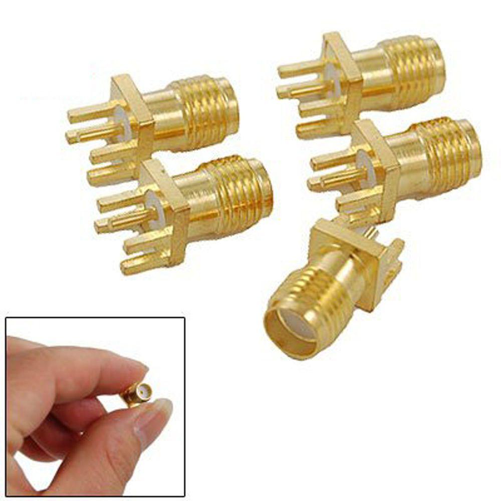 5 Pcs KM SMA Female to SMA female jack Straight RF Connector Adapter Plug Lot