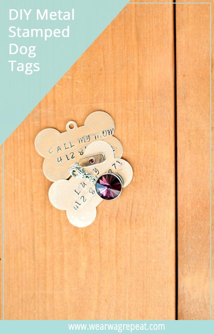 Handmade Holiday Gift Diy Metal Stamped Dog Tag Dog Tags Metal