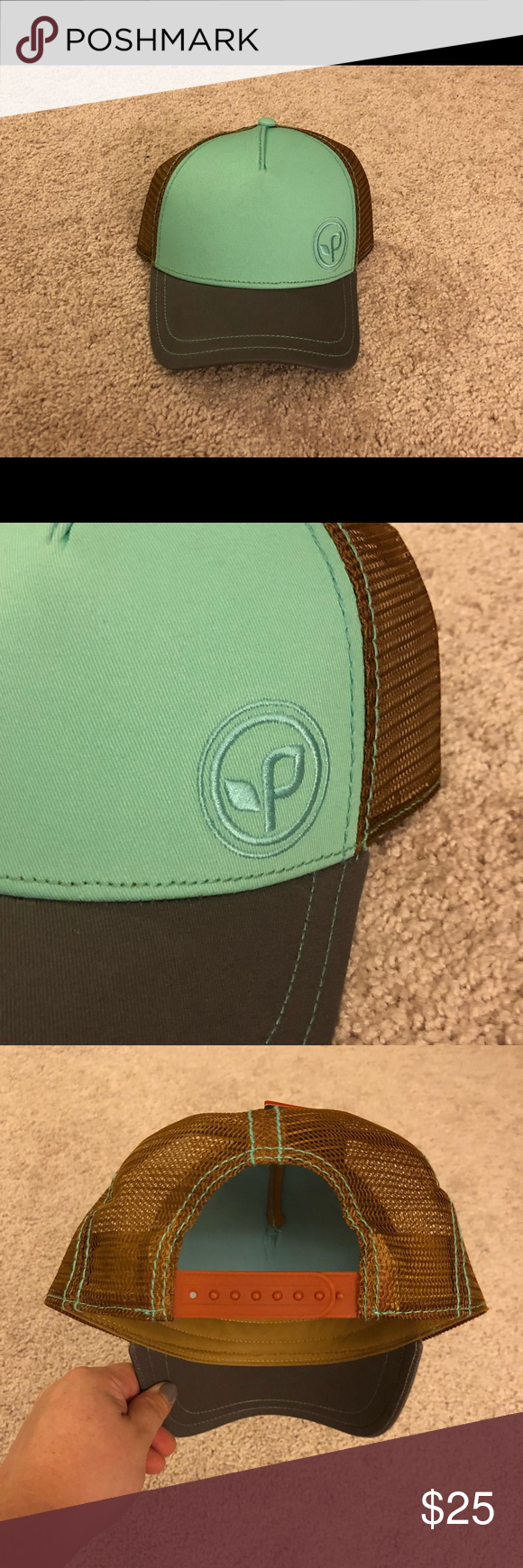 "d3e9f66125abc0 Women's Pistil Buttercup Trucker Hat Brand New!! Women's Pistil Buttercup  Trucker Hat. It is in the color ""mint"" which has a teal front, gray visor,  ..."