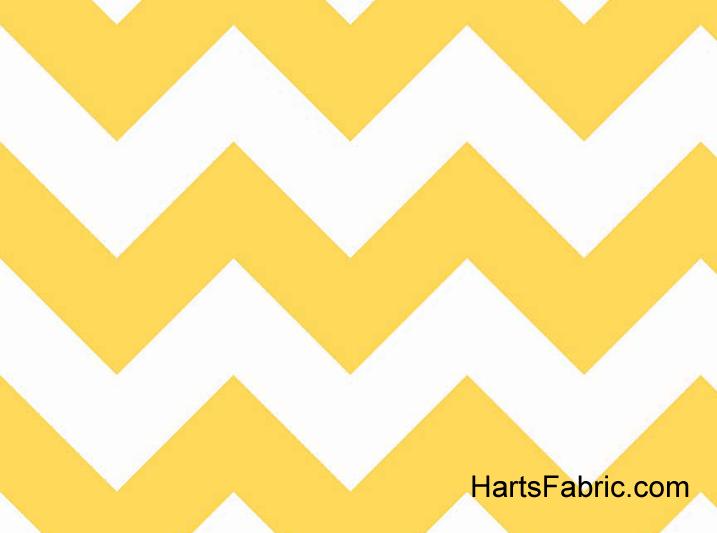 Large Chevron Cotton Fabric Yellow
