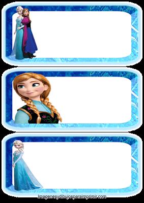 Etiquetas escolares de frozen para imprimir                              …