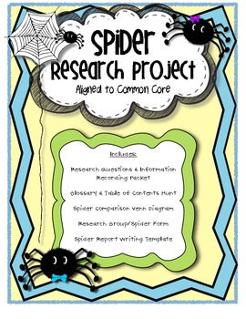 Spider Research Project Common Core Aligned
