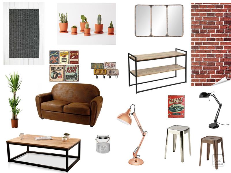 Id e d co pour bureau style industriel planche tendance - Idees deco bureau maison ...