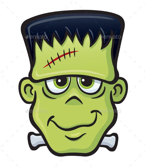 Frankenstein Monster Face Halloween Cartoons Halloween Monster Frankenstein Halloween