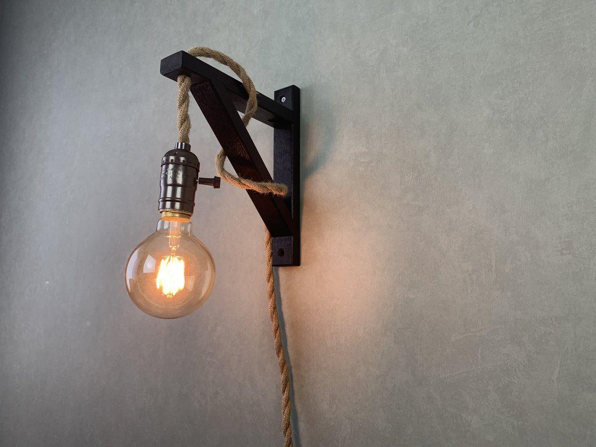 Wandlamp Touw Zwart Wandlamp Zwarte Slaapkamer Muren Tuinhuis Verlichting