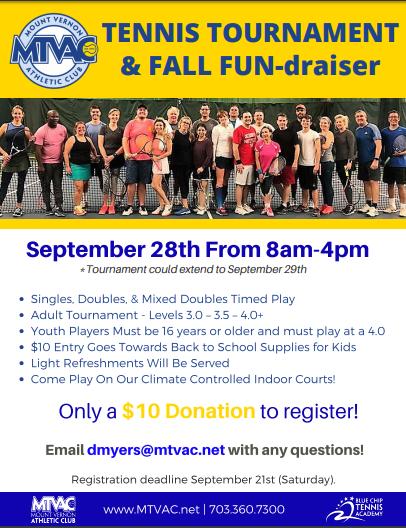 Mtvac Tennis Classes Mtvac Mount Vernon Athletic Club Kids School Supplies Tennis Tennis Tournaments