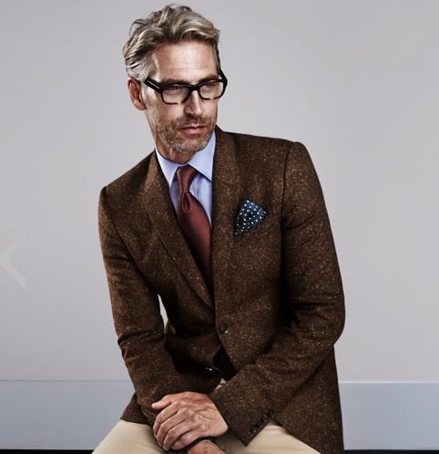 Donegal tweed jacket complimented with a classic Turnbull and ...