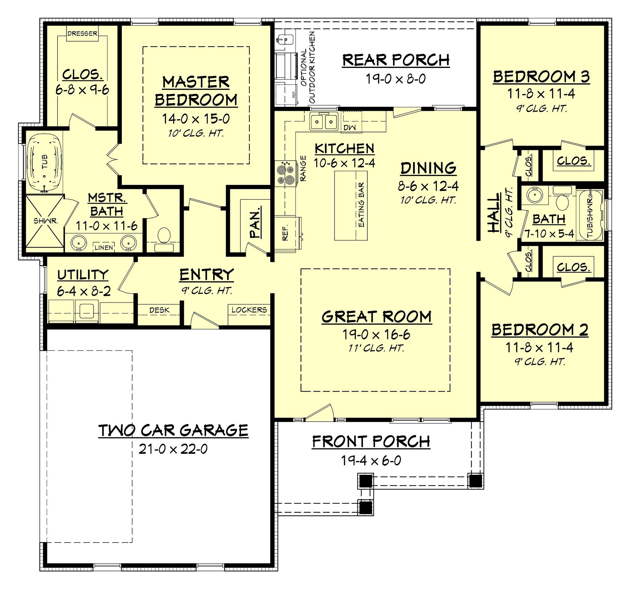 Ranch House Plans, Home Design