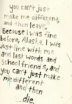 Looking For Alaska Quotes With Page Numbers Magnificent Looking For Alaska Quotes  Google Search  John Green Book Quotes