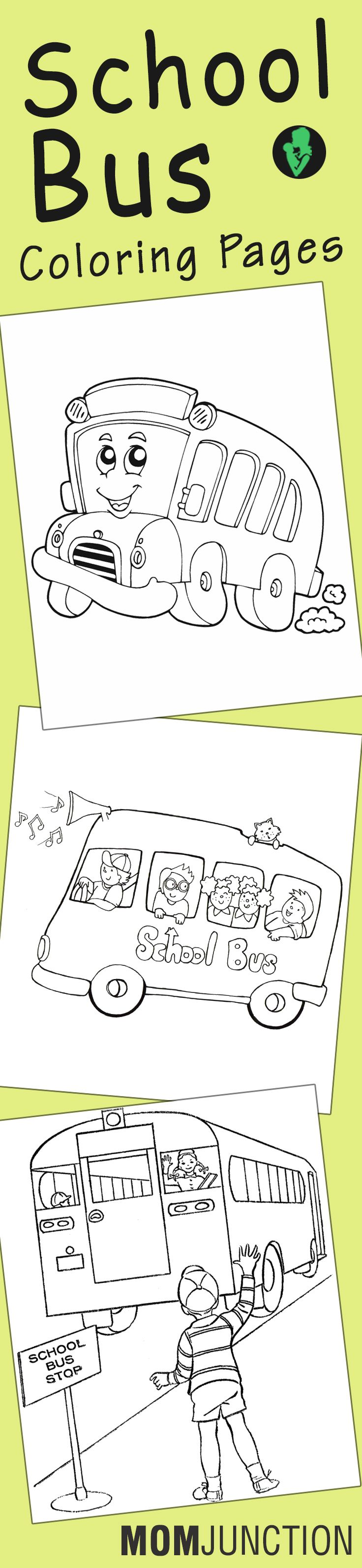 Top 10 Free Printable School Bus Coloring Pages Online | Preescolar