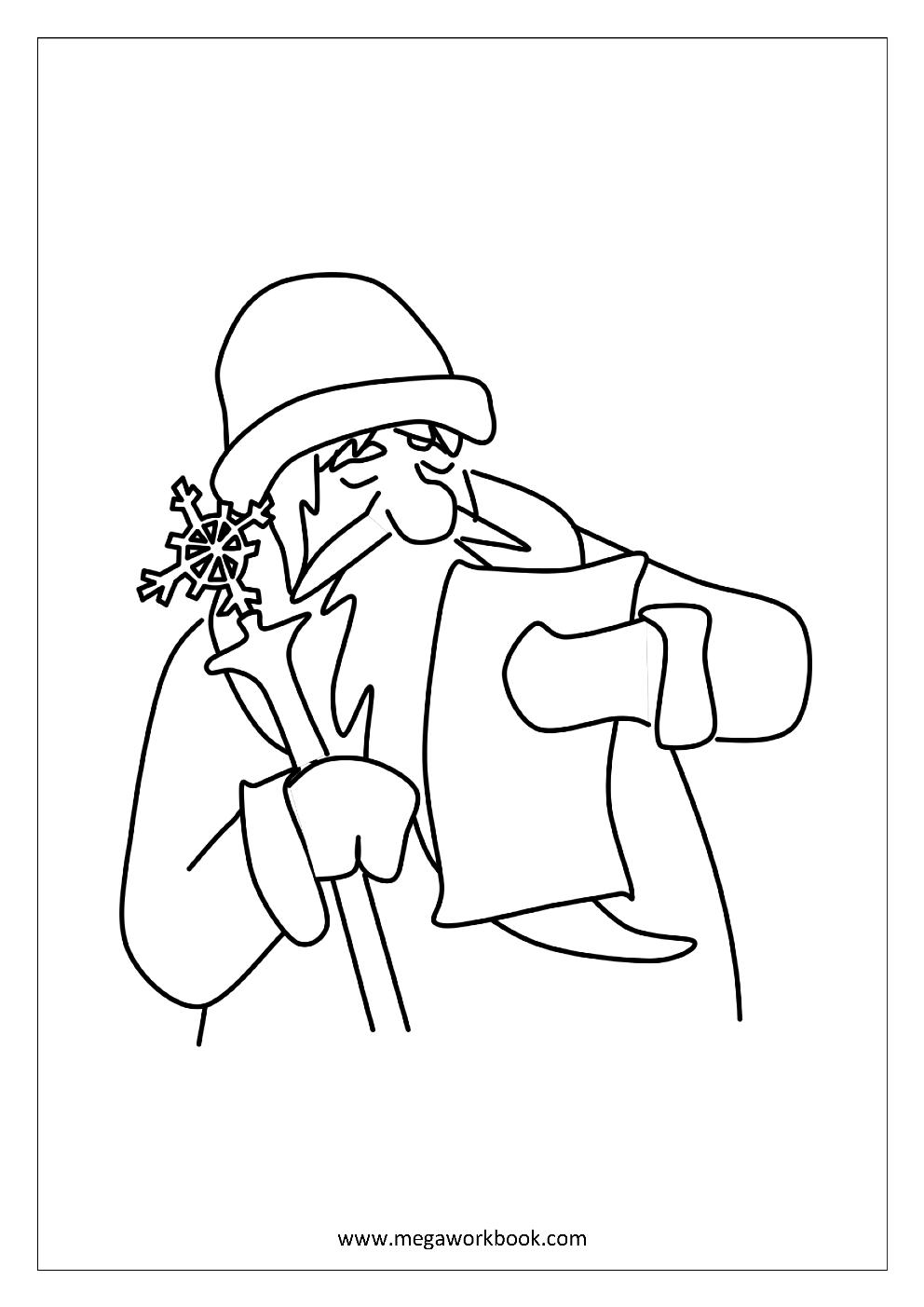 free printable coloring sheet - christmas coloring pages- santa