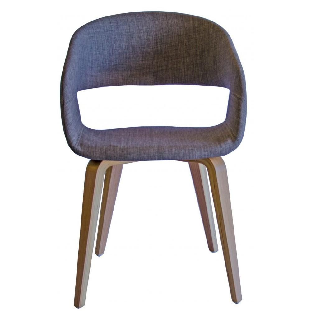 Brooke Fabric Dining Chair In Oak Mink Marc Main Fabric Dining Chairs