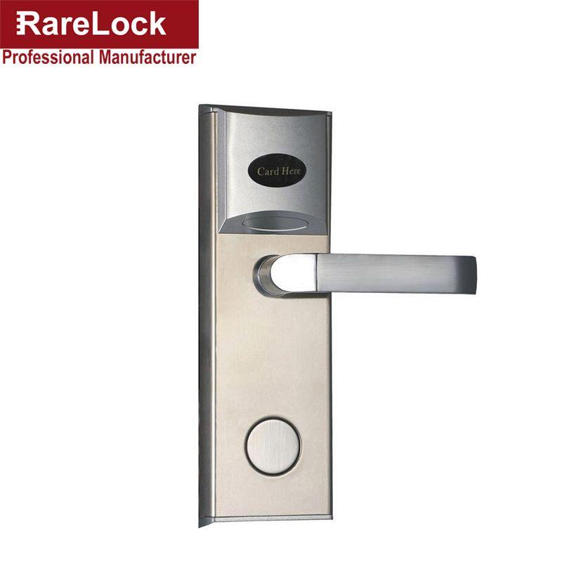 Rarelock Christmas Supplies Electric Door Lock Rfid Card For Hotel Flat Apartment Home Intelligence A Hotel Lock Electronic Door Locks Flat Apartment