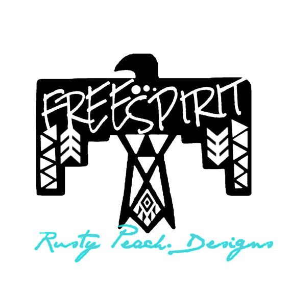 Free Spirit Vinyl Decal Choice of Color by RustyPeachDesigns